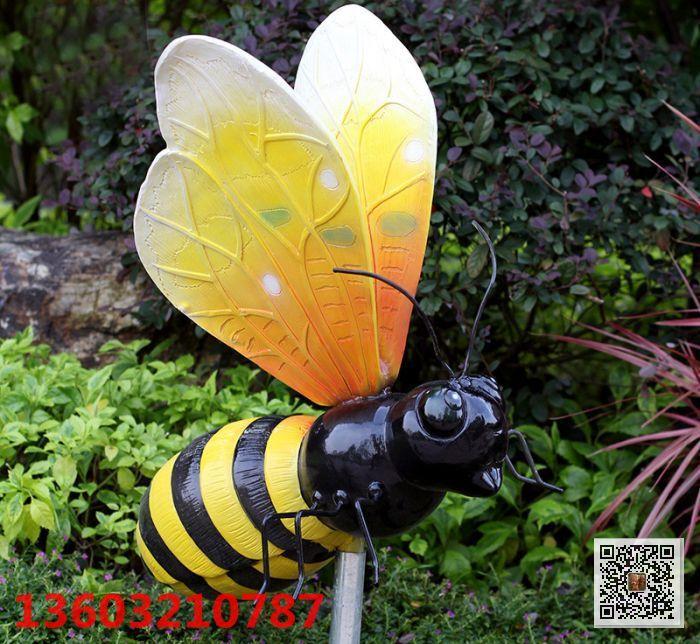蜜蜂雕塑 幼儿园创意小蜜蜂雕塑 润龙雕塑