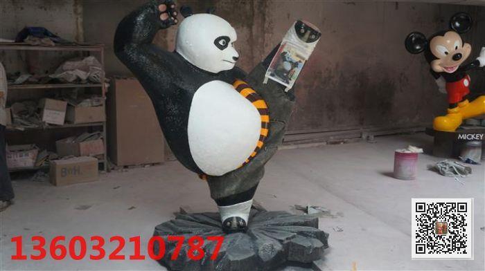 熊猫雕塑 河北玻璃钢卡通道具