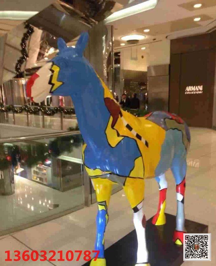 玻璃钢马雕塑 园林景观动物雕塑 玻璃钢厂家报价