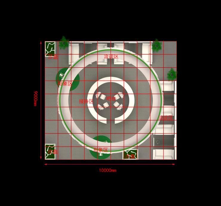 上海傲江环博会展台设计搭建效果图欣赏