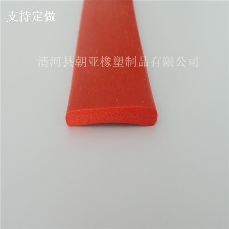 红色硅胶平板防尘耐磨损密封条