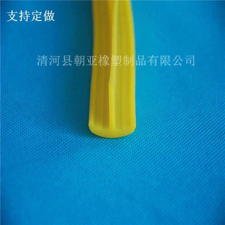 黄色硅胶T形密实耐高温密封条