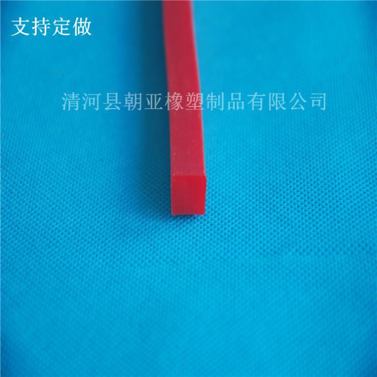 红色硅胶方形实心防尘耐磨损密封条