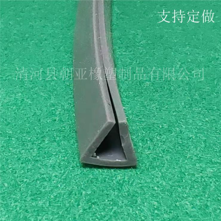 灰色硅胶U型防水耐磨损防尘密封条