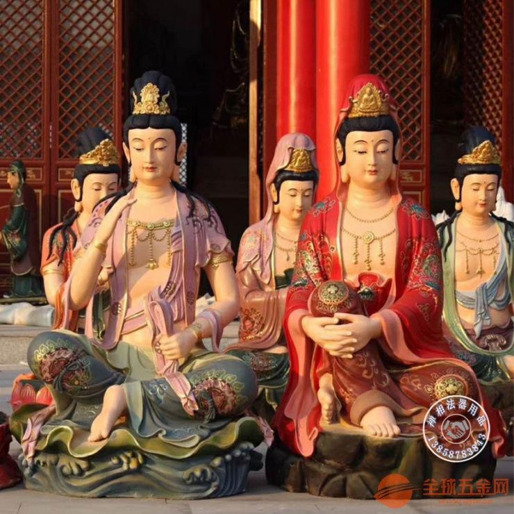 定制寺院三十三观音佛像图片、彩绘33观音佛像价格