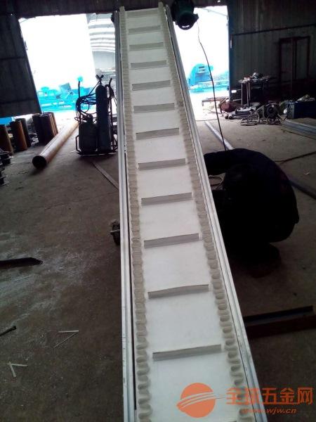 揭阳波状挡边爬坡输送机 水泥干粉粮食输送机定制