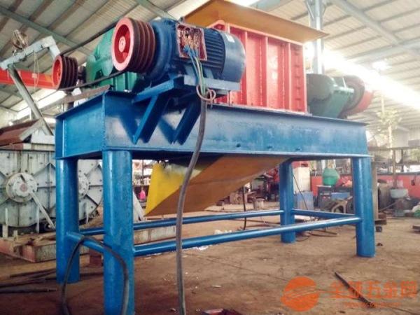 大型废旧钢材油漆桶粉碎机多用橡胶双轴撕碎机便于携带