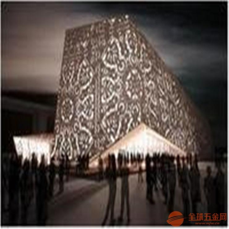 幕墙门头定制异形冲孔雕花铝单板 冲孔铝包柱