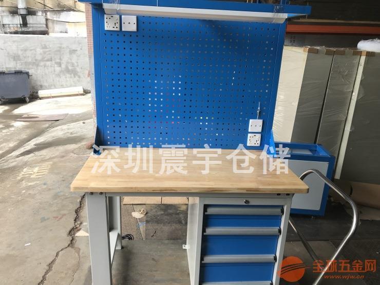 重型钳工操作桌 多功能榉木工作台定做