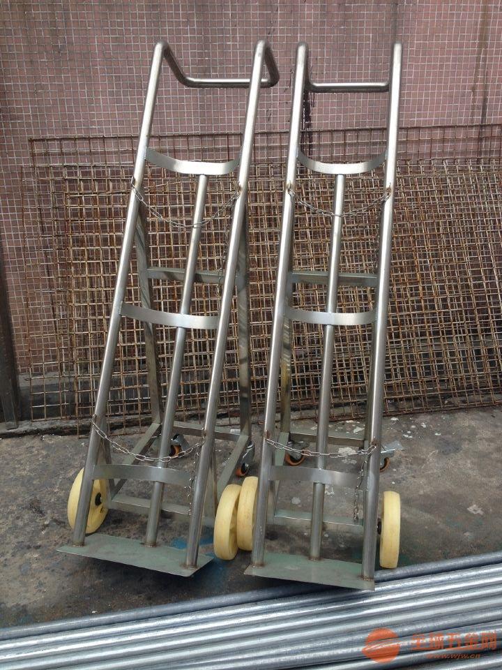 深圳不锈钢气瓶搬运车厂家 304不锈钢气瓶手推车