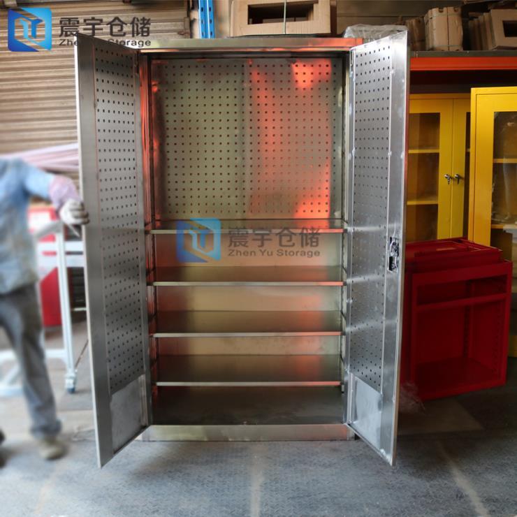 优质不锈钢工具柜带挂板4层储物柜厂家非标定制