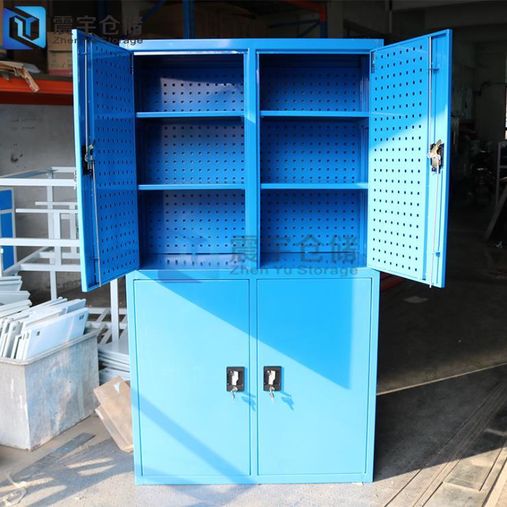 定制多功能加厚重型四门工具柜非标储物柜厂家