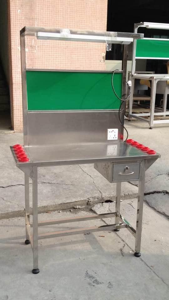 检验桌不锈钢工作台厂家定做加工中心质检操作台