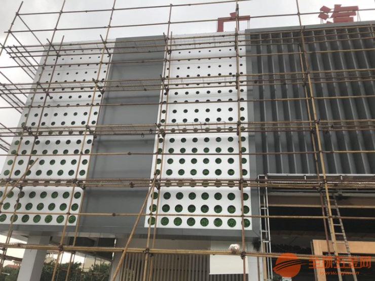 广汽新能源4S店外墙铝天花-外墙渐变孔铝单板【银白色