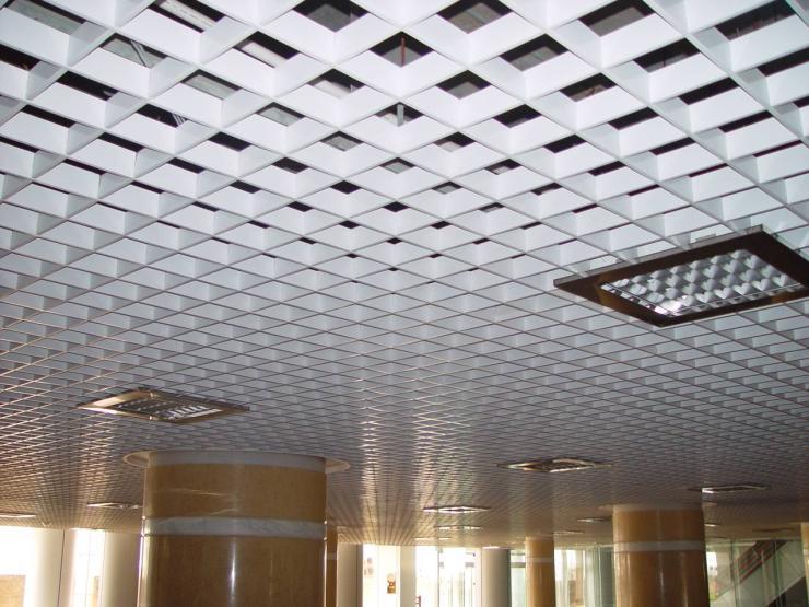 铝格栅厂家 木纹铝格栅天花吊顶,装饰材料