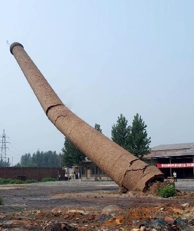 西安混凝土烟筒人工拆除
