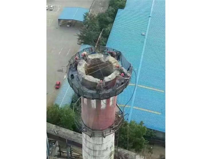 :红古混凝土烟囱人工拆除价格