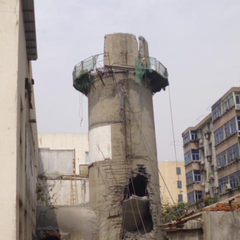 德州钢筋混凝土烟囱拆除公司:欢迎访问