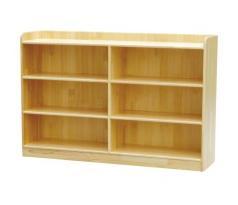 幼儿园实木 樟子松 6格带背板玩具柜子
