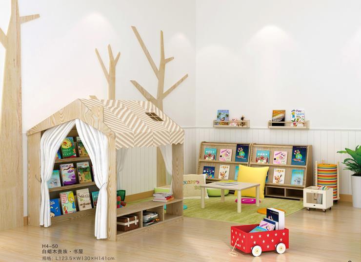 沈阳幼儿园室内图书区 区角活动书架书柜玩具柜