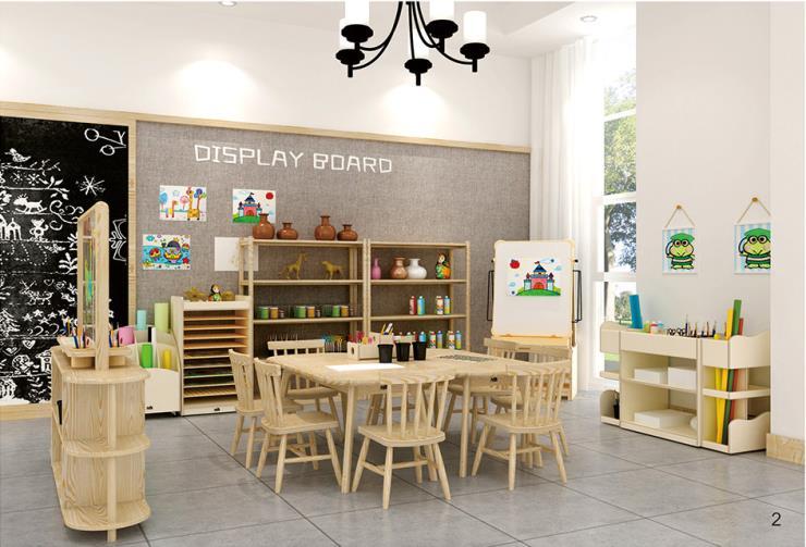 沈阳幼儿园早教中心美工区 美工桌 美工台