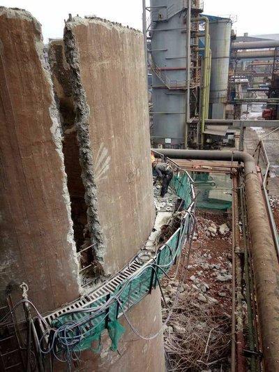 贵港钢筋混凝土烟囱拆除公司:欢迎访问