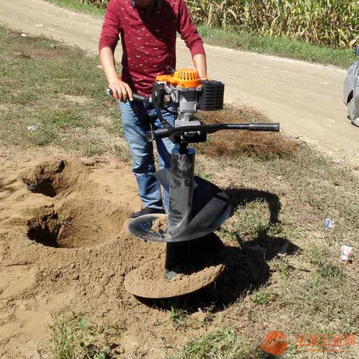 大直径螺旋打孔机大马力植树挖坑机施肥打孔机