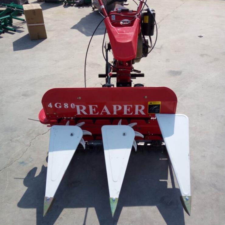 收获机械 手扶自走式全自动稻麦玉米辣椒收割机