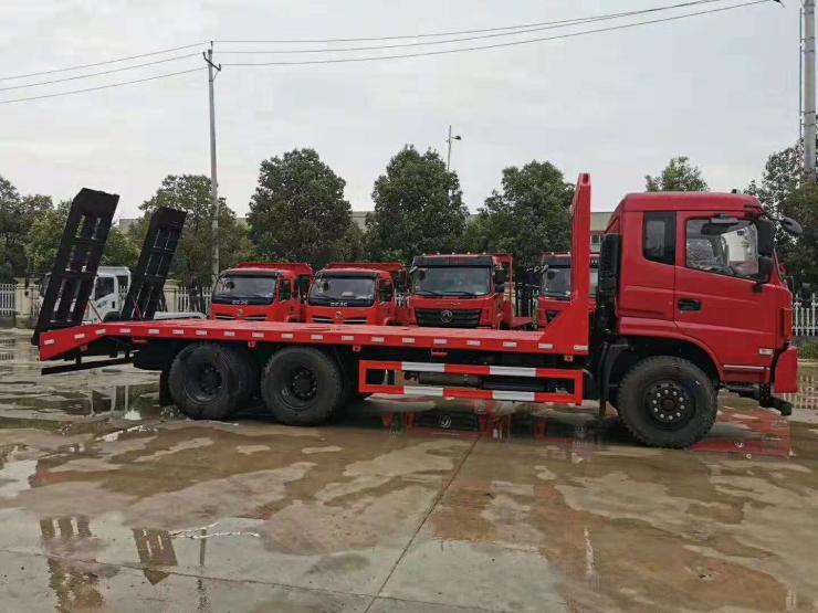 歐曼平板車價格參數配置圖片挖機拖車價格軸鉤機平板拖車