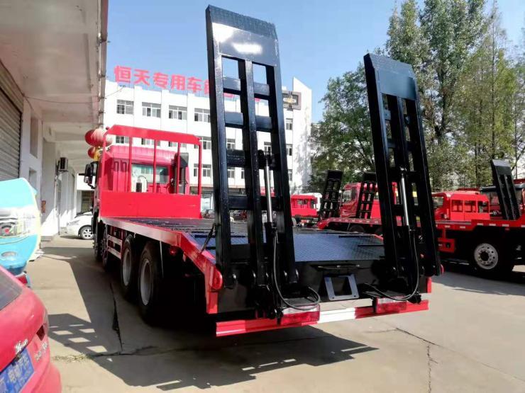 江淮后雙橋平板運輸車小挖掘機拖車軸鉤機平板拖車