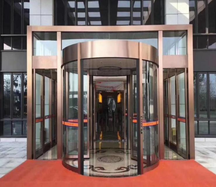 广州写字楼大厦不锈钢旋转门多种规格可订做