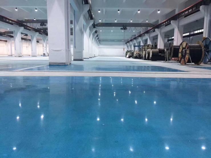 武汉磐多磨微水泥清水混凝土地坪艺术展厅墙地面一体化