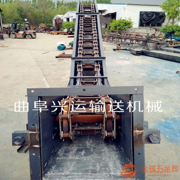 單板鏈刮板機來圖生產糧食輸送機
