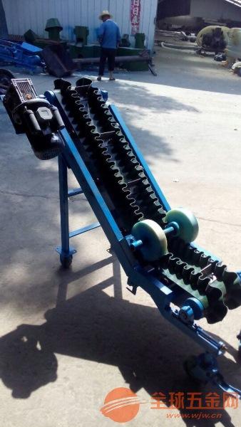 波状挡边爬坡输送机定制 橡胶带运输机