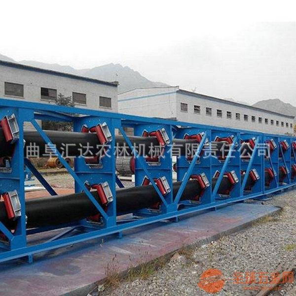 圆管带式输送机输送各种粒状物料 绿色环保