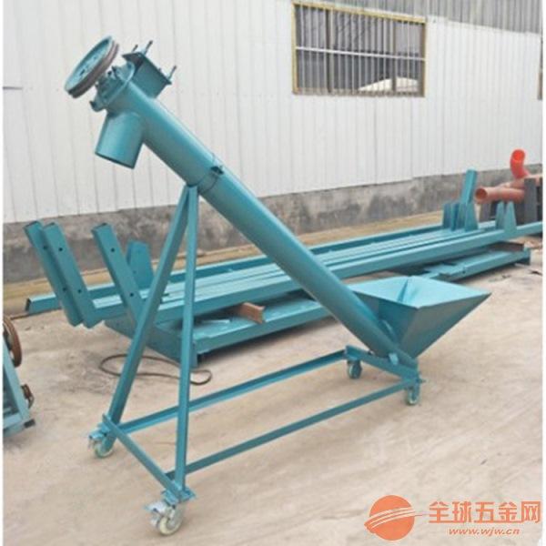 水平式绞龙送料机轴承密封齐齐哈尔面粉螺旋输送机安装加
