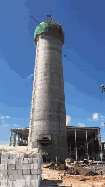 泽州县30-80米水泥烟囱新建承接工程
