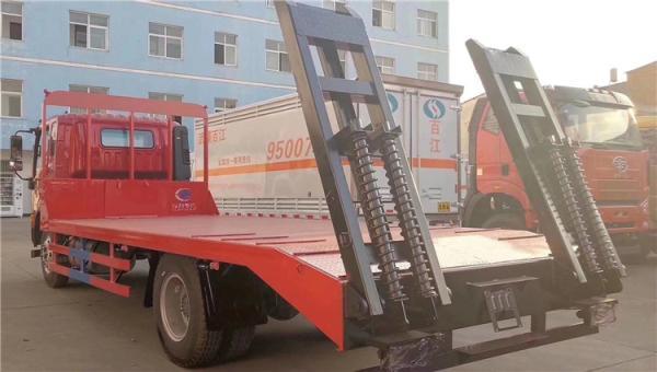 江淮格尔发单桥挖机平板拖车包上户可分期