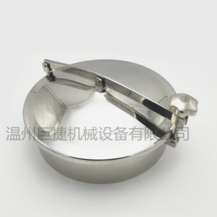 304 316L不锈钢卫生级圆形单杆人孔、卫生级圆形人孔