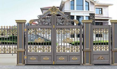 专业定做各种款式铝艺庭院防盗门