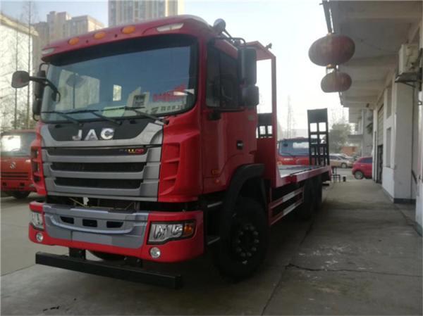 江淮后八轮平板运输车拉25吨挖机平板车价格