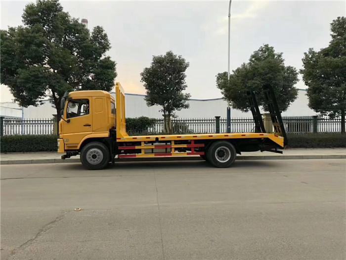 东风华神D912平板拖车拉75挖机平板运输拖车