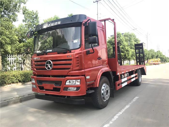 东风华神平板拖车15吨挖机收割机平板车