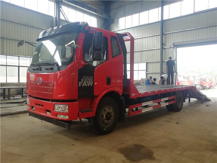 东风华神平板拖车拉80挖机工程机械拖车
