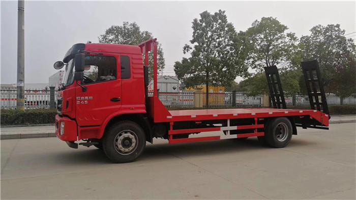 解放J6平板拖车60挖机平板拖车