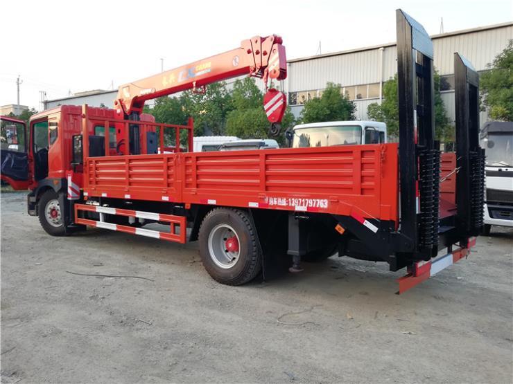 江淮K5平板拖车20吨挖机工程机械平板运输车