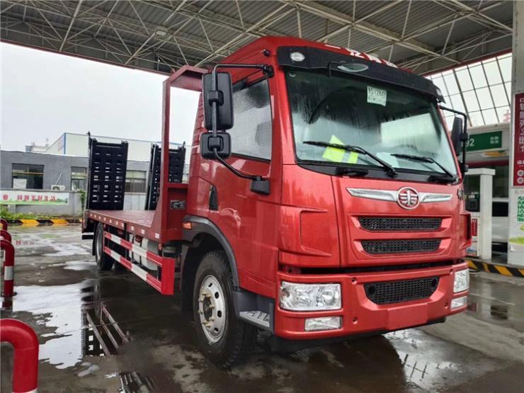 福田瑞沃平板拖车拉120挖机平板车车