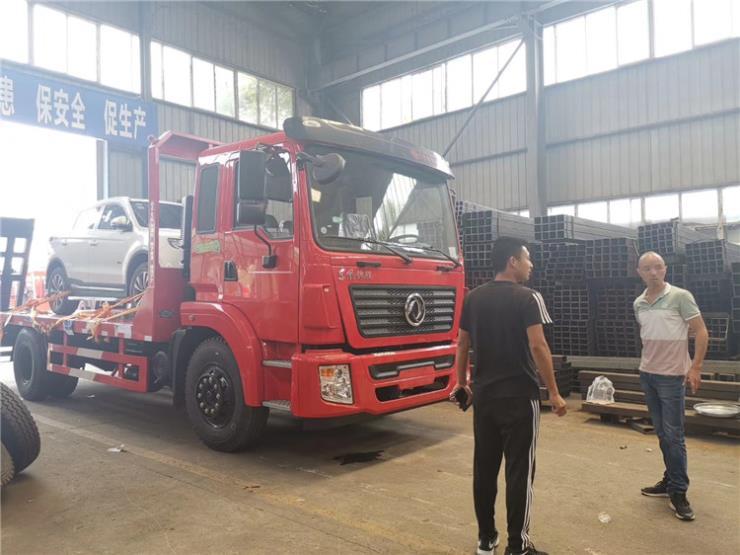 8吨到10吨东风华神挖机平板车