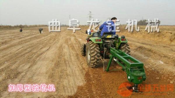 拖拉机螺旋挖坑机龙钰机械中型拖拉机植树挖坑机