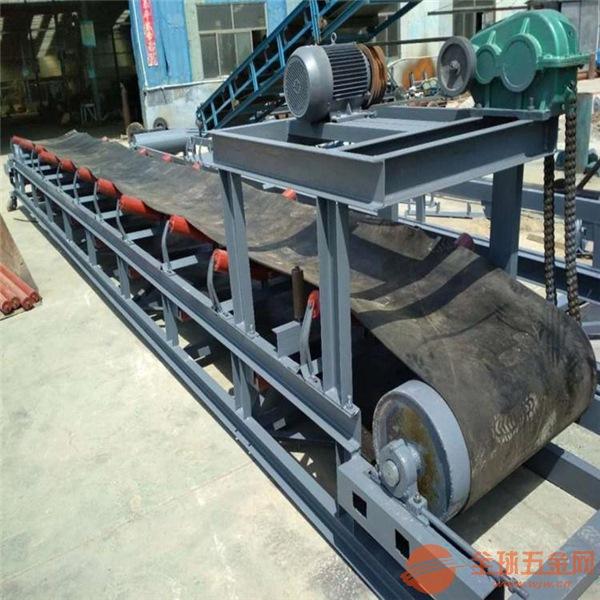 圆管支架皮带输送机 物料装卸大倾角输送机